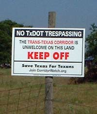 No TxDOT Trasspassing Sign